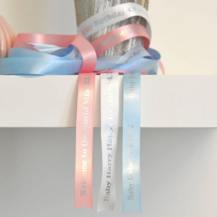 Personalised New Baby Ribbon